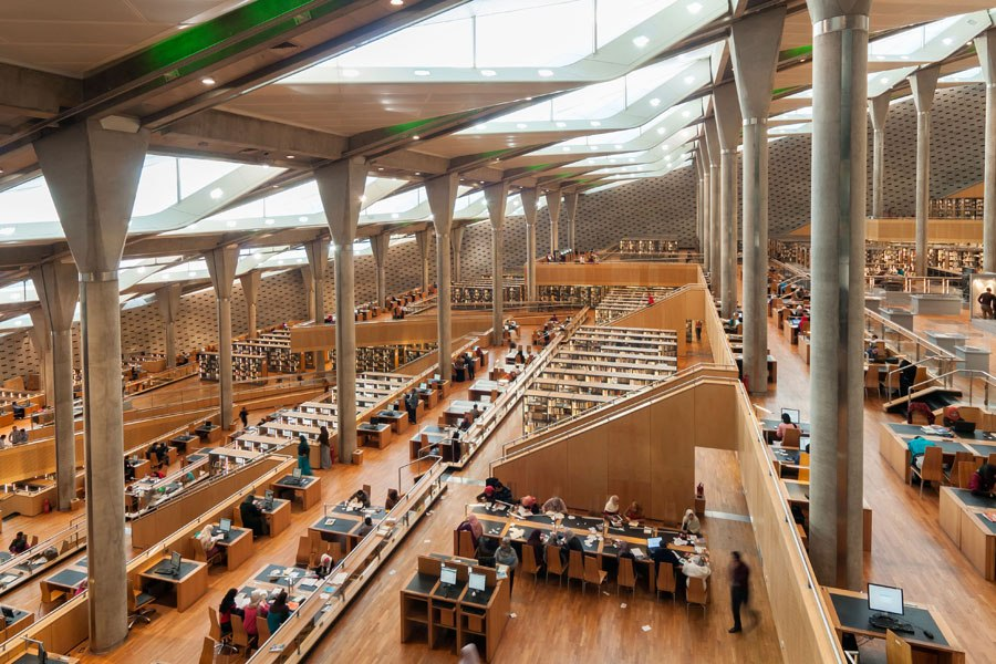 Reading Room in Bibliotheca Alexandrina